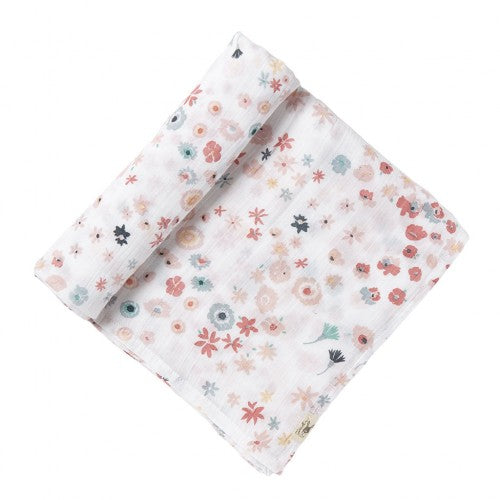 Pretty Meadow Muslin Baby Swaddle by Pehr Designs - A Fly Went By
