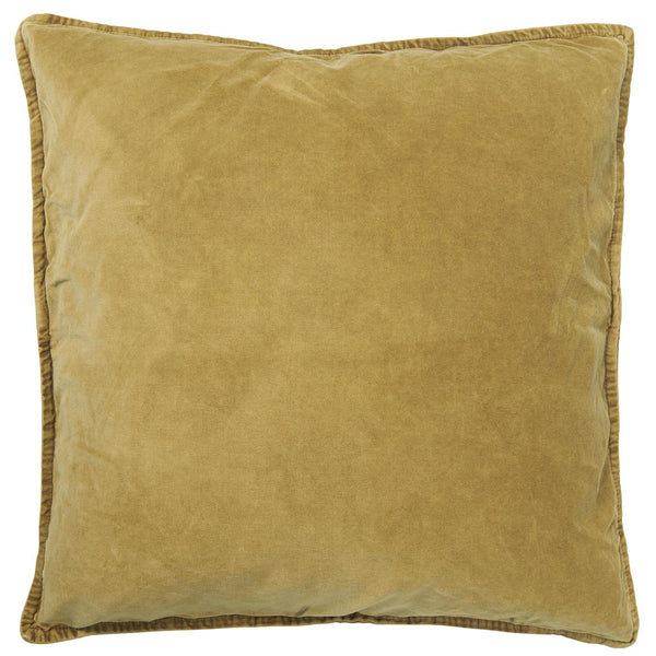 Mustard Velvet Cushion Including Feather Pad