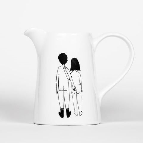 Helen B Naked Couple Jug Homeware- a-fly-went-by.myshopify.com