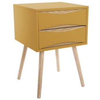 2 Drawer Ochre Buoyant Cabinet by Leitmotiv - A Fly Went By