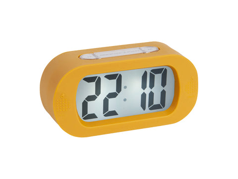 Karlsson Ochre Gummy Alarm Clock Homeware- a-fly-went-by.myshopify.com