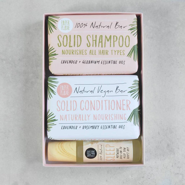 Vegan Hair And Body Gift Set For Hair, Body and Mind