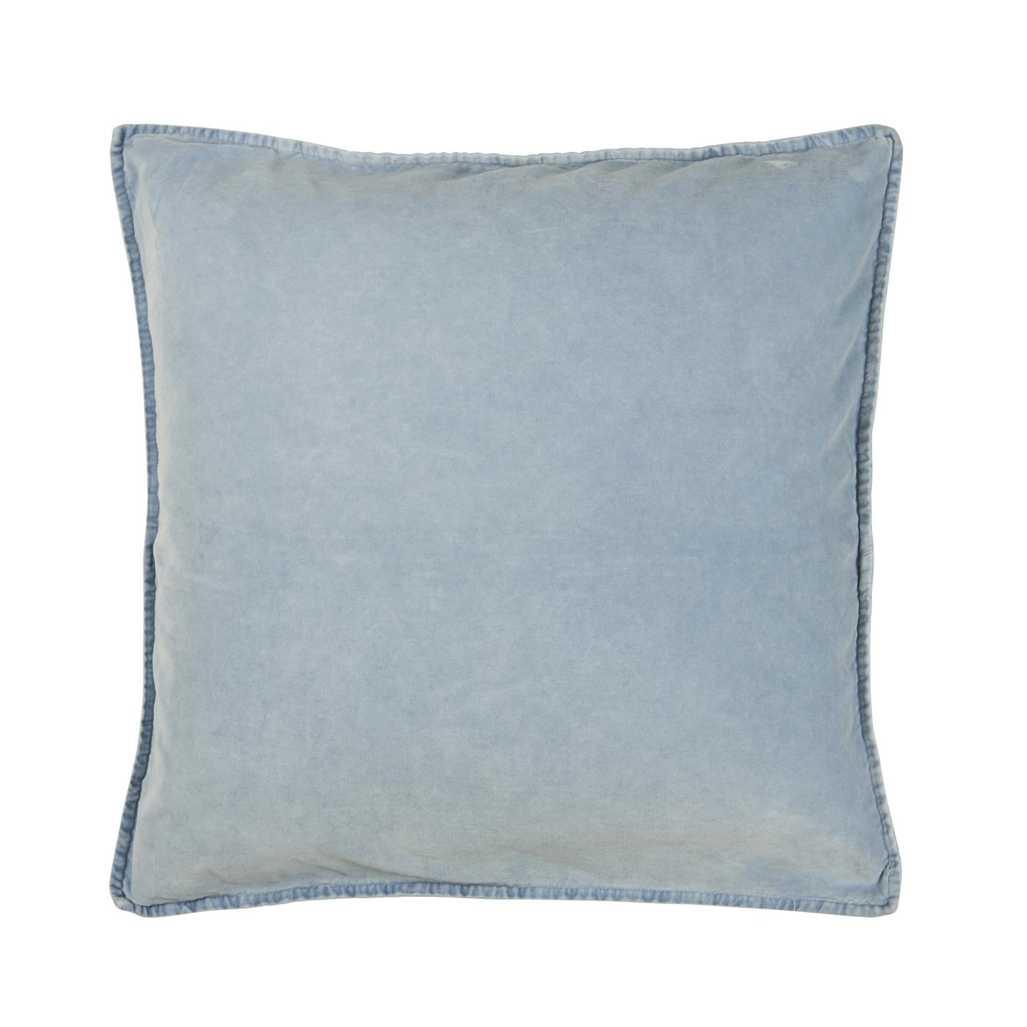 Pale Blue Velvet Cushion