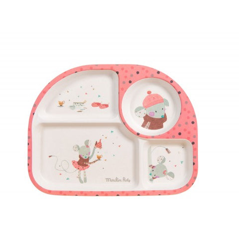 Moulin Roty Les Jolis Beaux Trop Pink Tray Homeware- a-fly-went-by.myshopify.com