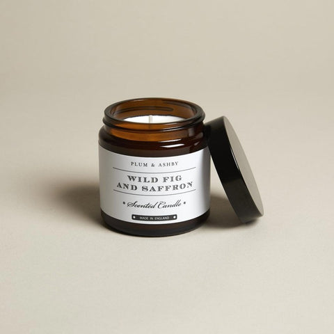Plum and Ashby Wild Fig & Saffron Recycled Jar Candle Homeware- a-fly-went-by.myshopify.com