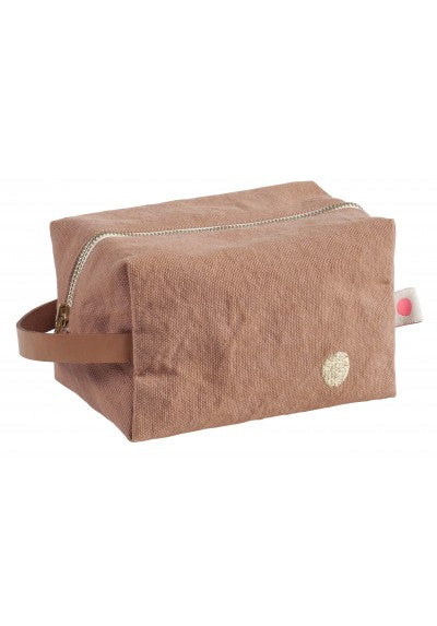 Medium Cube Waterproof Lined Toiletry Bag