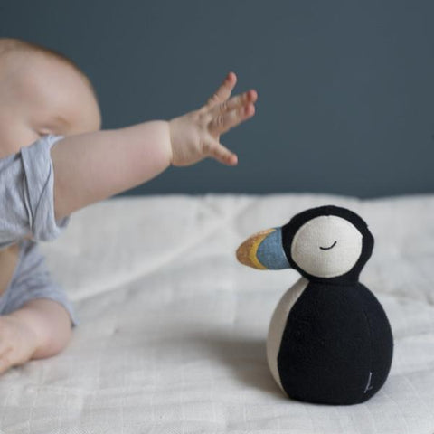 Fabelab Organic Cotton Puffin Rocking Rattle Children- a-fly-went-by.myshopify.com