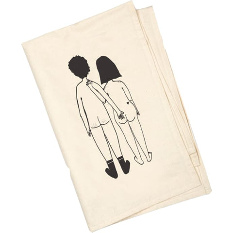 Rear Naked Couple Tea Towel