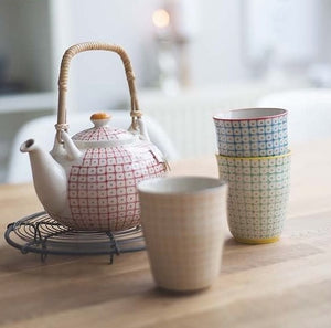 Bloomingville Red Carla Teapot Homeware- a-fly-went-by.myshopify.com