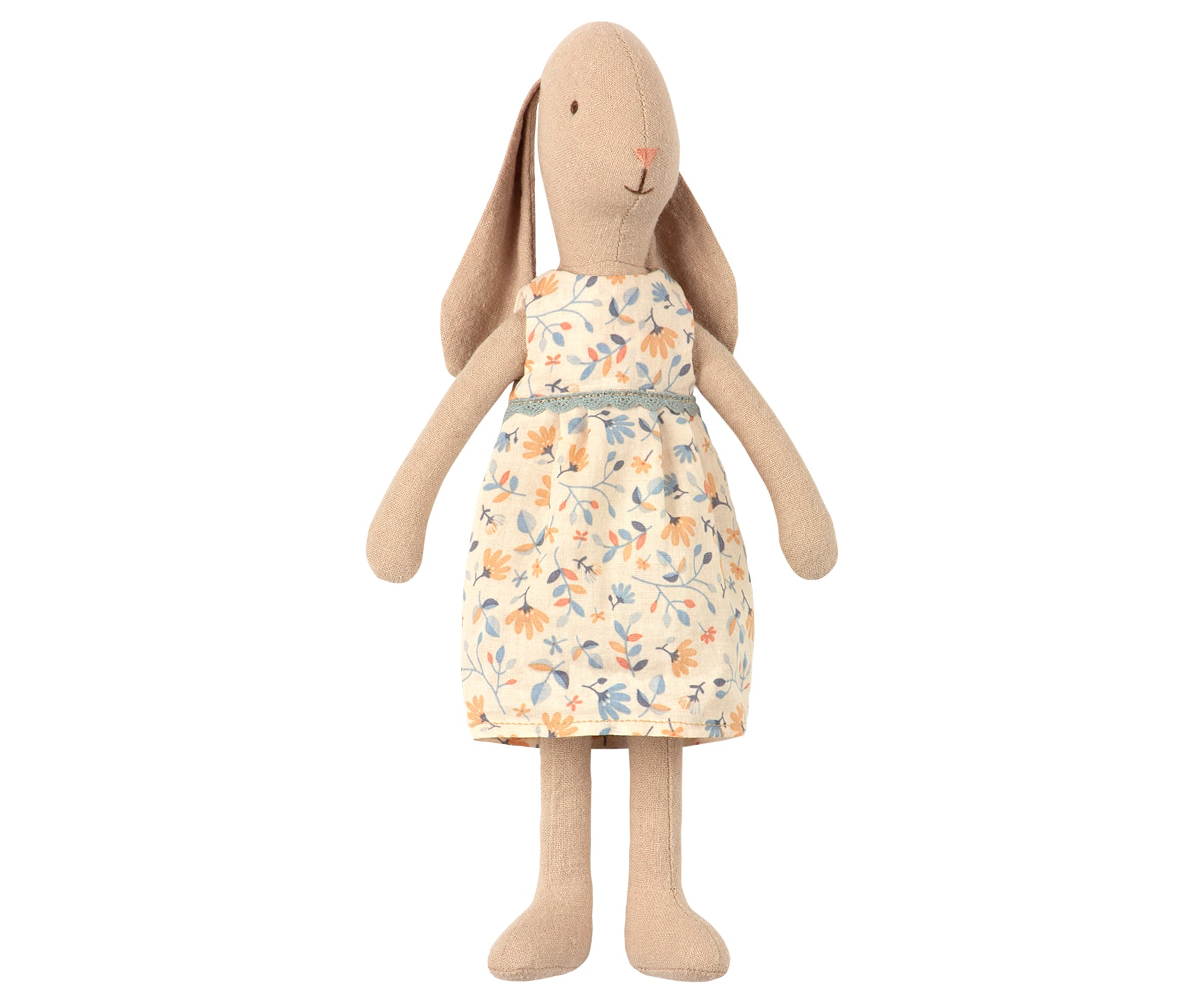 Mini Bunny Girl in Floral Dress - Size 2 by Maileg - A Fly Went By