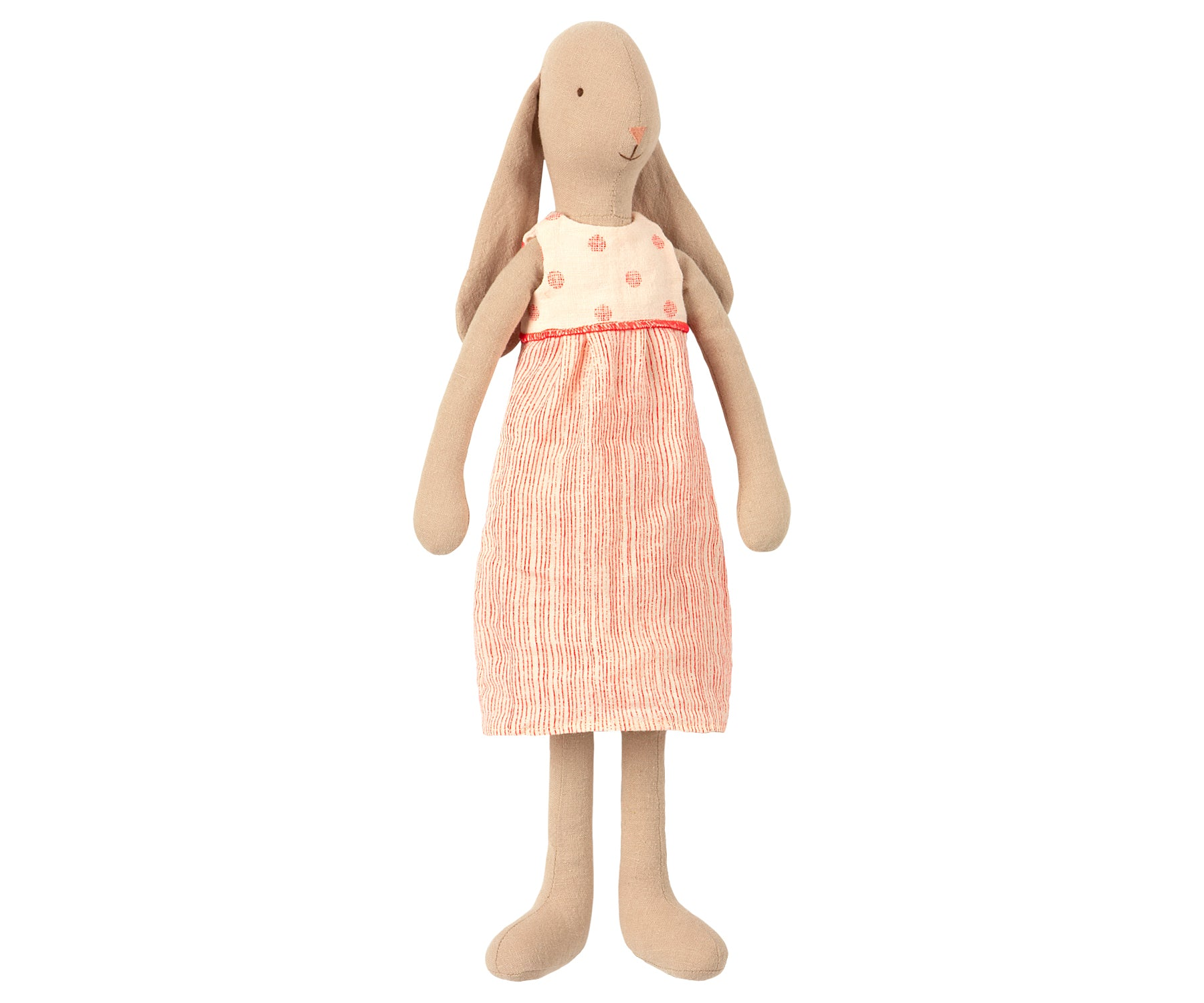 Bunny in Coral Spotty Linen Dress - Size 3