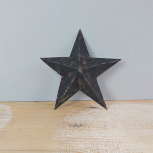 Decorative Vintage Black Tin Star