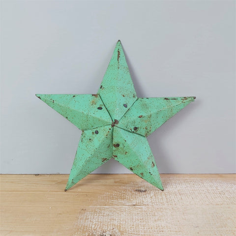 Medium Tin Green Vintage Christmas Star