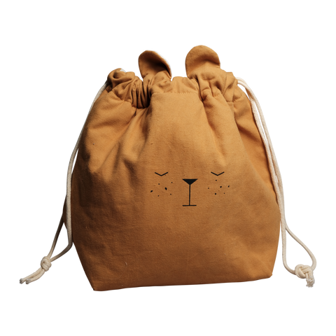 Small Ochre Bear Storage Bag
