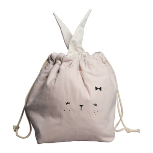 Fabelab Small Pink Bunny Storage Bag Children- a-fly-went-by.myshopify.com