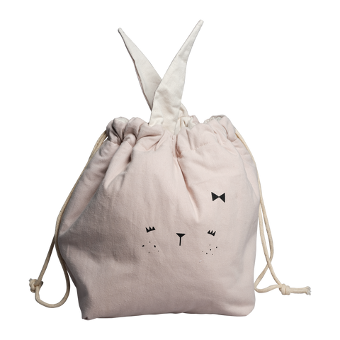 Small Pink Bunny Storage Bag by Fabelab - A Fly Went By