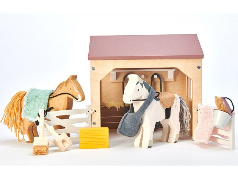Wooden Stable Set by Tender Leaf Toys - A Fly Went By