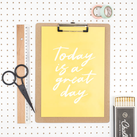 'Today is a Great Day' A4 Print by Dainty Forest - A Fly Went By