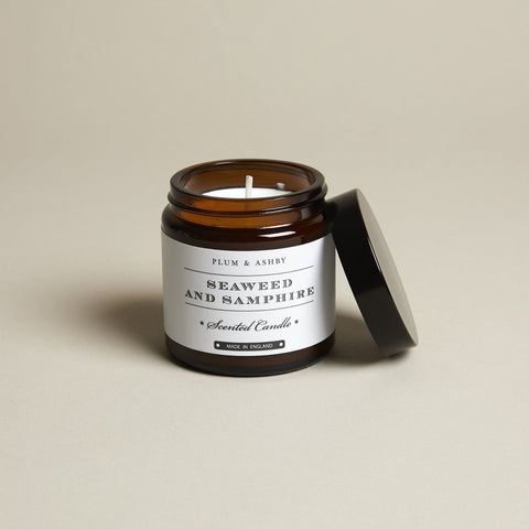 Seaweed & Samphire Recycled Jar Candle by Plum and Ashby - A Fly Went By