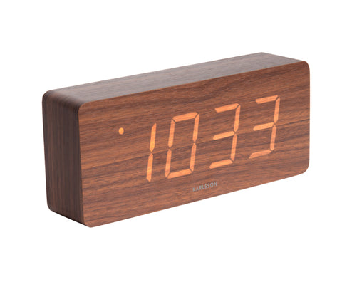 Dark Wood Tube Alarm Clock