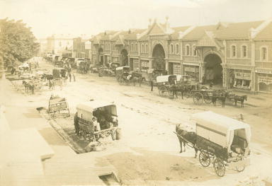 East End Markets Adelaide 1905 Black and White