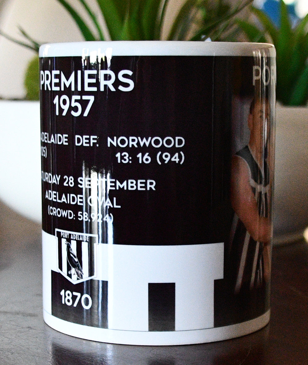 Port  Adelaide Football Club 1957 Premiers Mug - Footy photo mugs