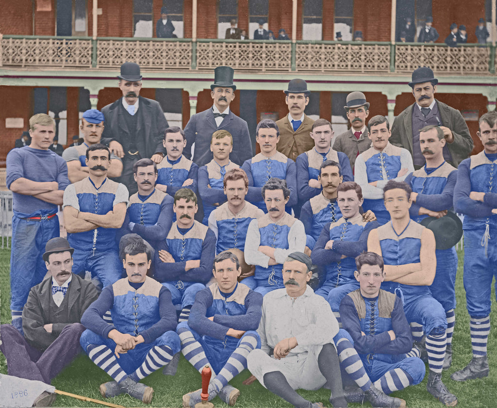 Carlton Football Club 1896 - Colour -Footy Photo