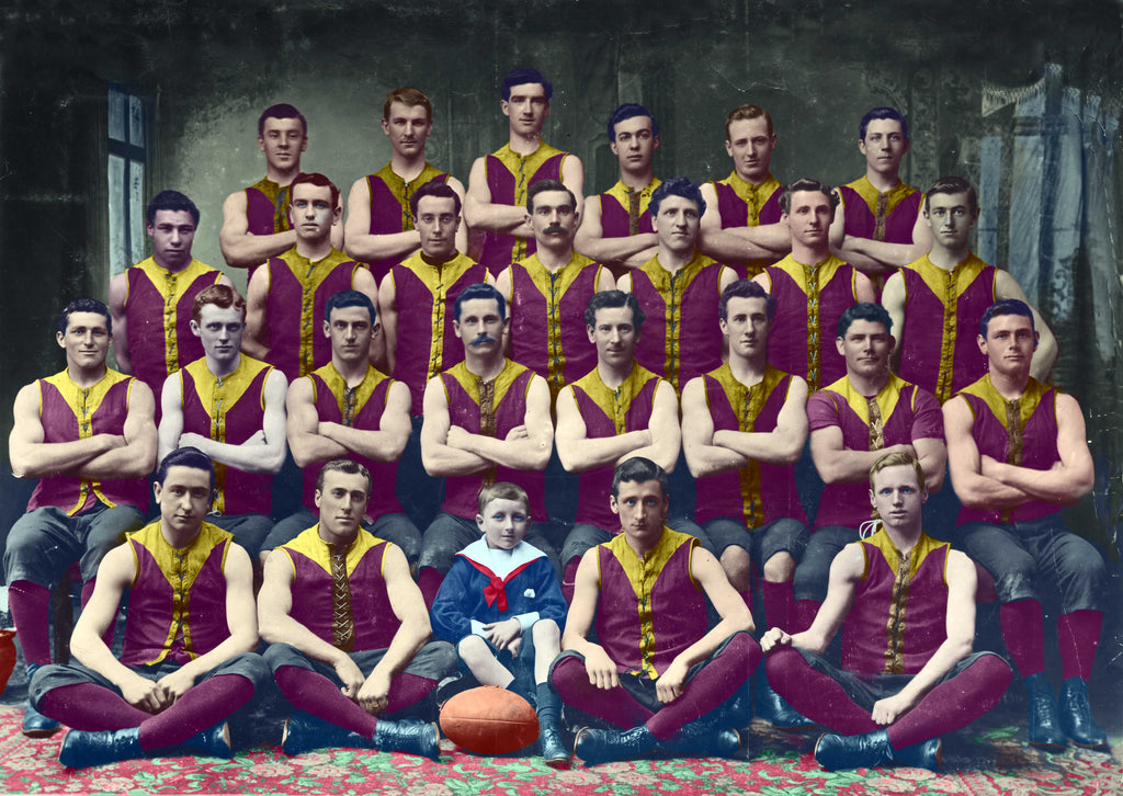 Fitzroy Football Club 1904-Colorized-Footy Photo