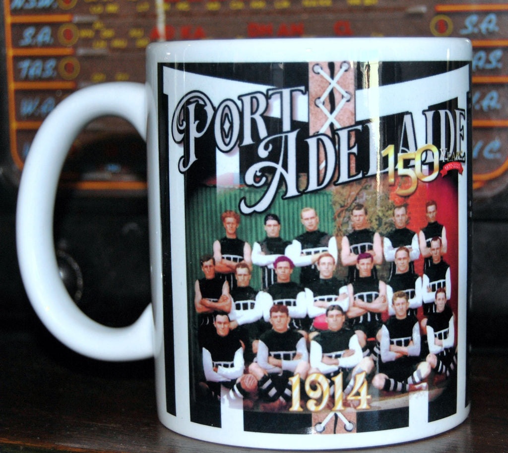 "Port Adelaide 1914 Premiers Mug- ""The Invincibles"" - Collectors Piece - Footy Photo Mugs"
