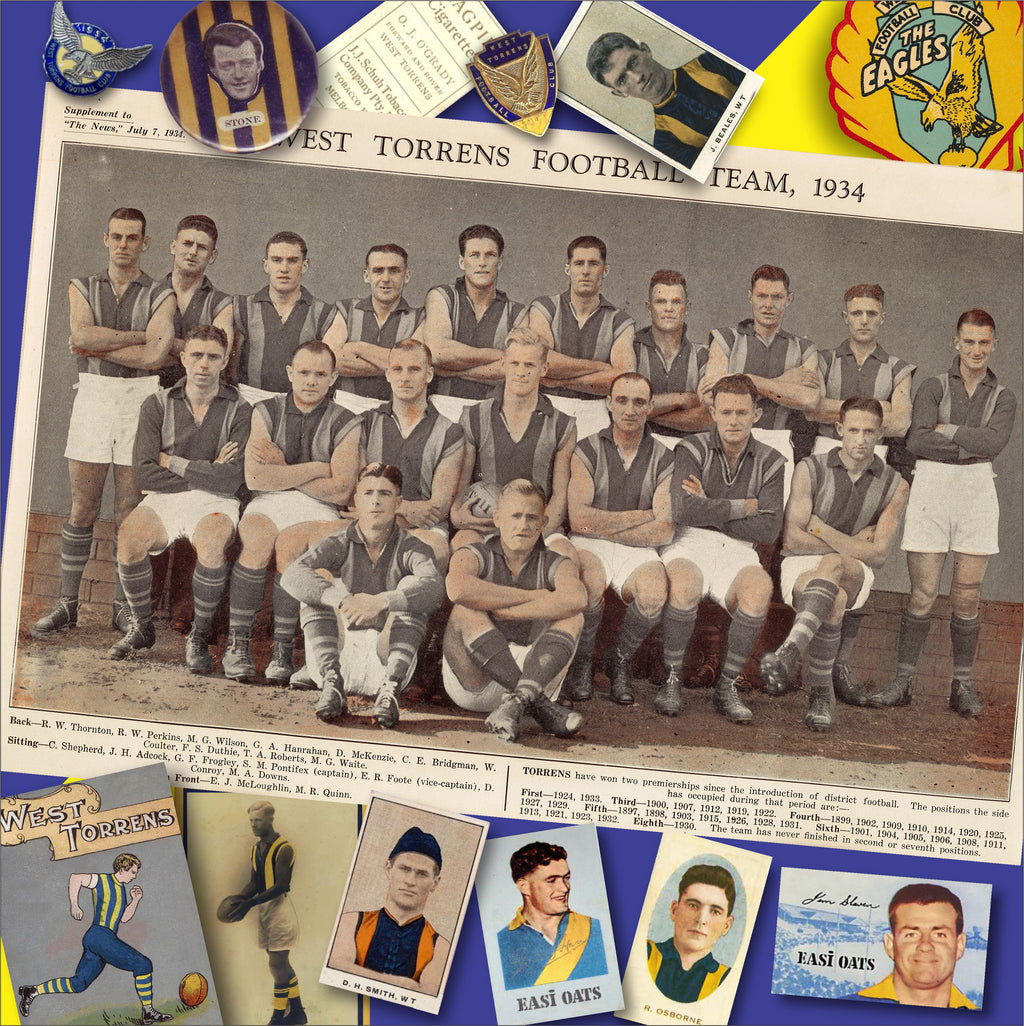 West Torrens Football Club: 300 mm x 300 mm - Footy Photo Tile