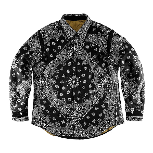 Paisley Patchwork Shirt Jacket