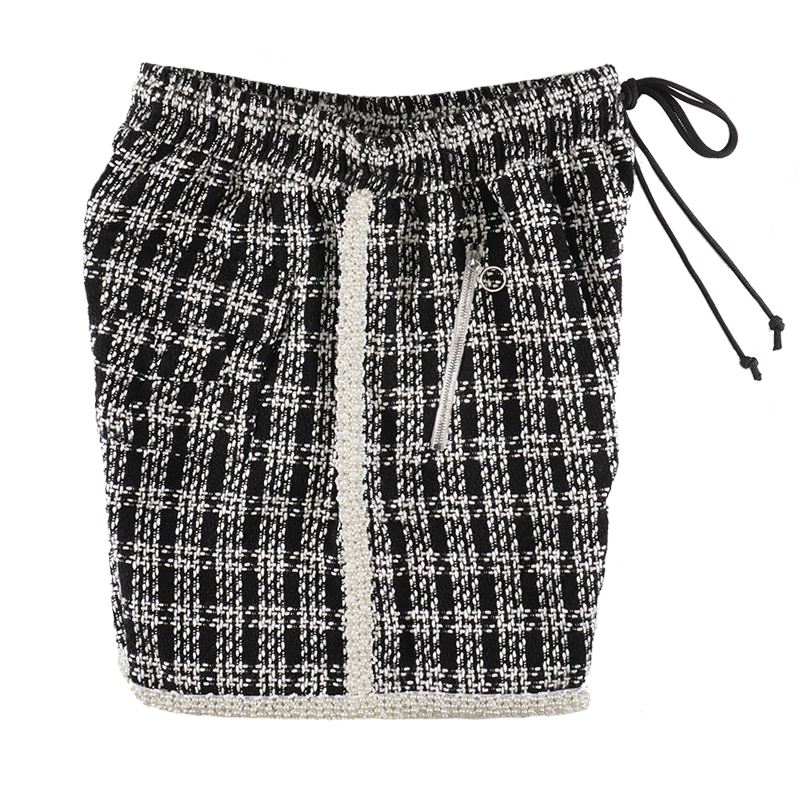 EMBELLISHED TWEED SHORTS