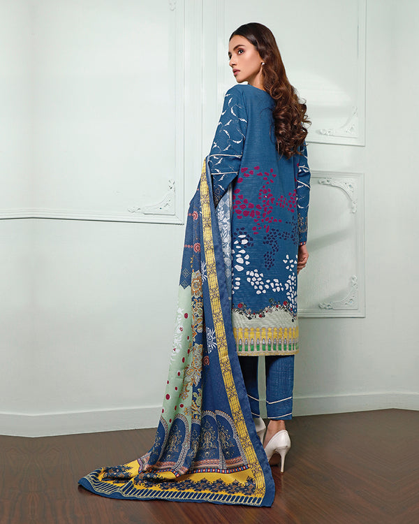 Embroidered Khaddar Suit (NEP-20902) 3 Pcs