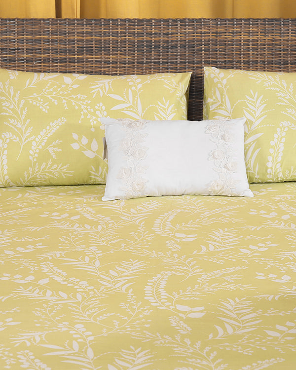 PRINTED FLAT SHEET SET 100% COTTON BED-21019