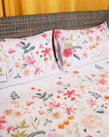PRINTED FLAT SHEET SET 100% COTTON BED-21021