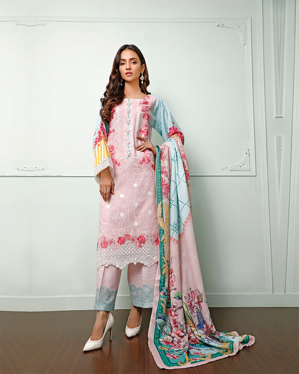 Embroidered Khaddar Suit (NEP-20904) 3 Pcs