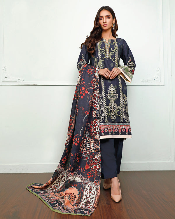 Embroidered Khaddar Suit (NEP-20910) 3 Pcs