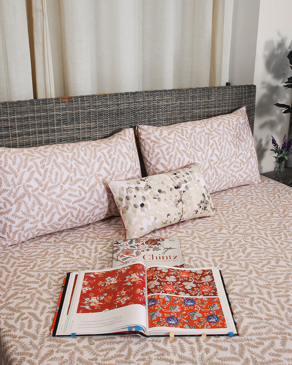 PRINTED FLAT SHEET SET 100% COTTON BED-21020