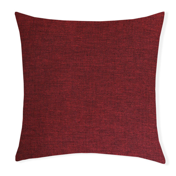 Anton Yarn Dyed 100% Cotton Herringbone Decorative Cushion 100% polyester filling (Rust)