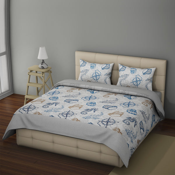 NIMSAY HOME SEAFARER 100% COTTON FABRIC DUVET COVER