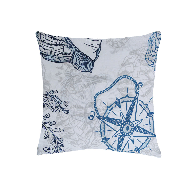 NIMSAY HOME SEAFARER COTTON FABRIC CUSHION WITH 100% POLYESTER FILLING
