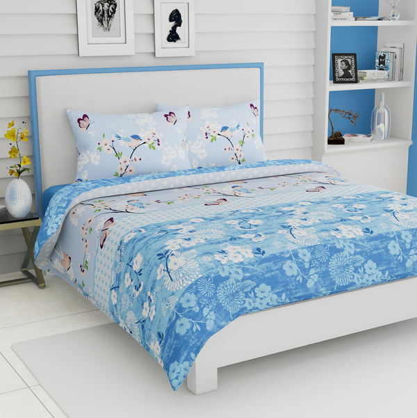 NIMSAY HOME BIRD COTTON DUVET COVER BED LINEN