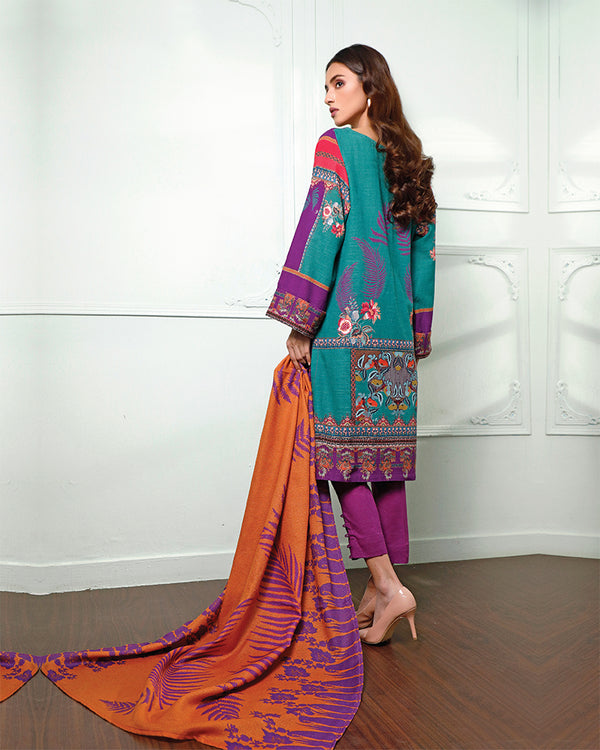 Embroidered Khaddar Suit (NEP-20909) 3 Pcs