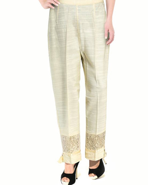 EMBROIDERED KHADDAR (TRE-0010-LD) TROUSER