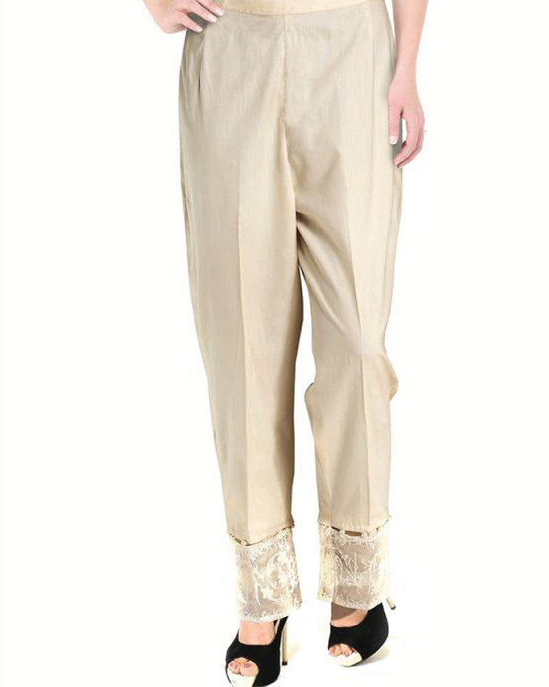 EMBROIDERED CAMBRIC (TRE-0009-LD) TROUSER