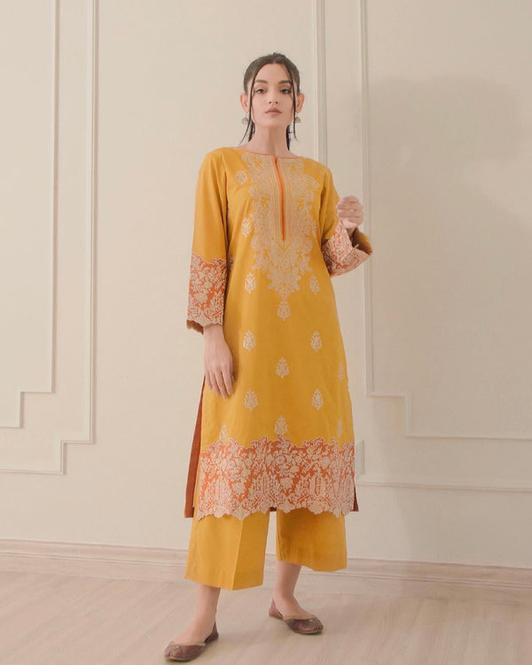 Yellow Sapphire Embroidered Lawn 2Pc NPA2-21308