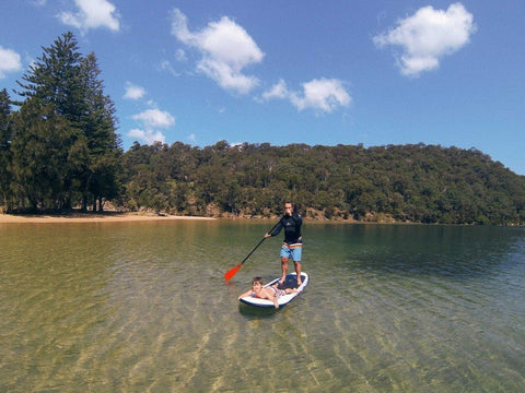 Paddleboarding in Pittwater