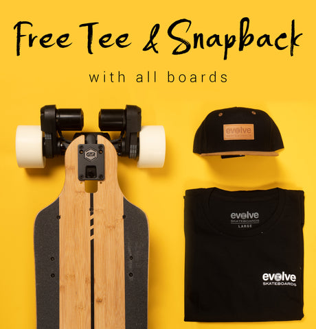 Free T-Shirt & Cap with every skateboard
