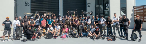 Electric skateboard group ride