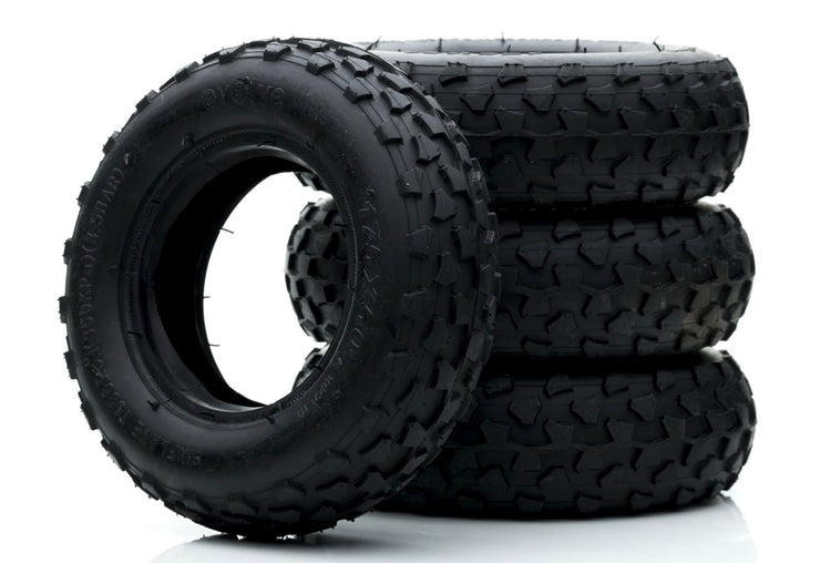 "Set of Off Road Tyres 7"" in black"